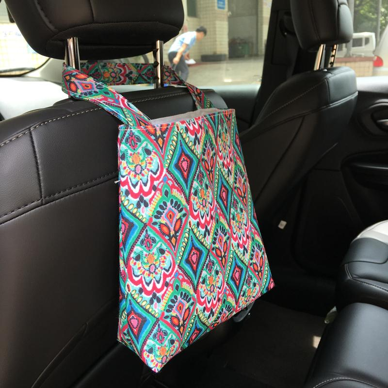 Lilly Floral Car Trash Bag Wholesale Blanks Fabric Accessory Holder Tote Bin In Crown Flamingo 5 Colors DOM106608