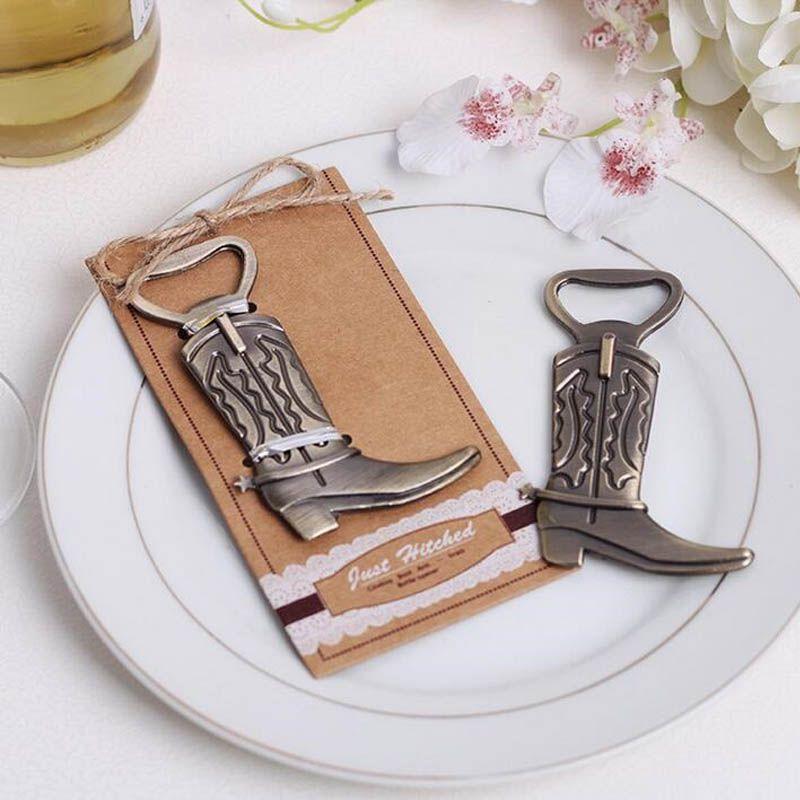 Kreative Flaschenöffner Hitched Cowboy Boot Western Geburtstag Braut Hochzeit Gefälligkeiten und Geschenke Party Cute Tool