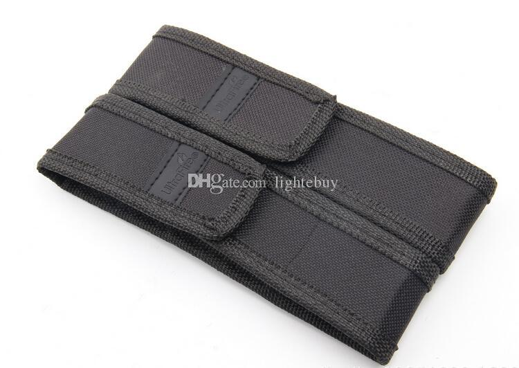 wholesale Black Nylon Belt Holster Cover Pouch for UltraFire C8 G700 E6 E17 A100 501B 502B LED Flashlight Torch