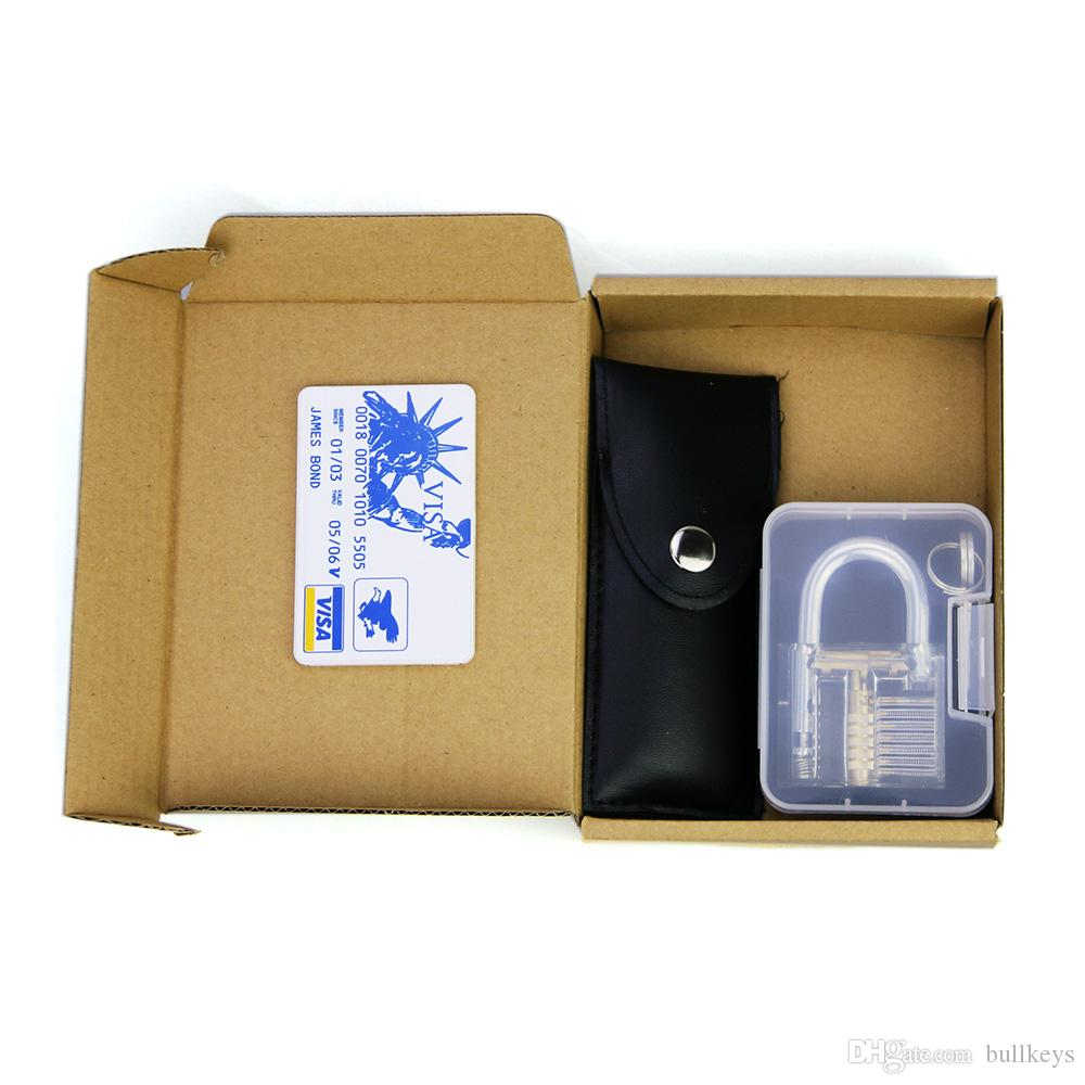 Lock picks Tools locksmith + credit card credit card lock pick set + transparent practice 7 pin lock padlock