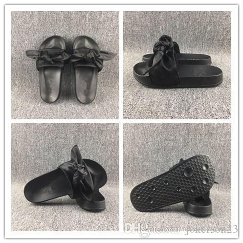 4b1977d2a9f1 2017 New Womens Fenty Bandana Slide Slippers Designer Ladies Rihanna ...