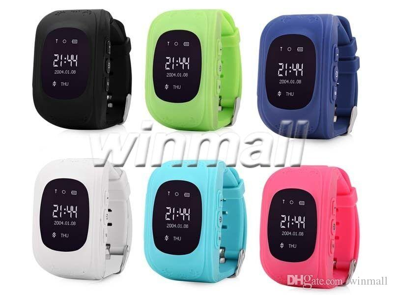 OLED Q50 Kids GPS Tracker Anti Lost Smart Watch Children SOS SIM Call GSM-Phone Location Finder Device