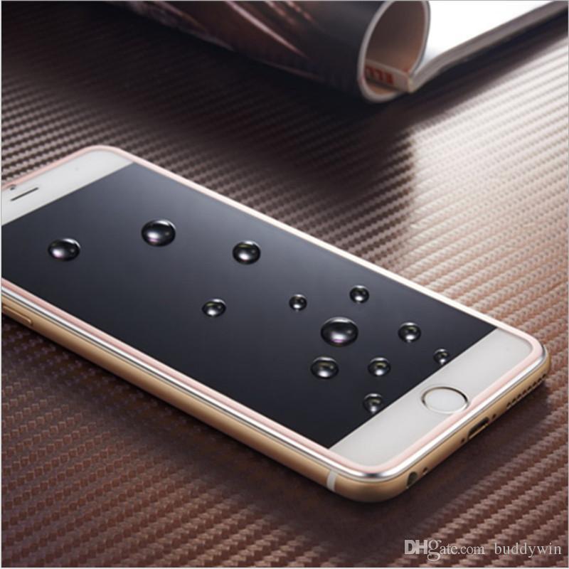 Титановый сплав закаленное стекло полное покрытие экрана протектор ультра-тонкий 3D изогнутый край дизайн для iphone 8/8plus/7/7/+ 6/6+/5/5s