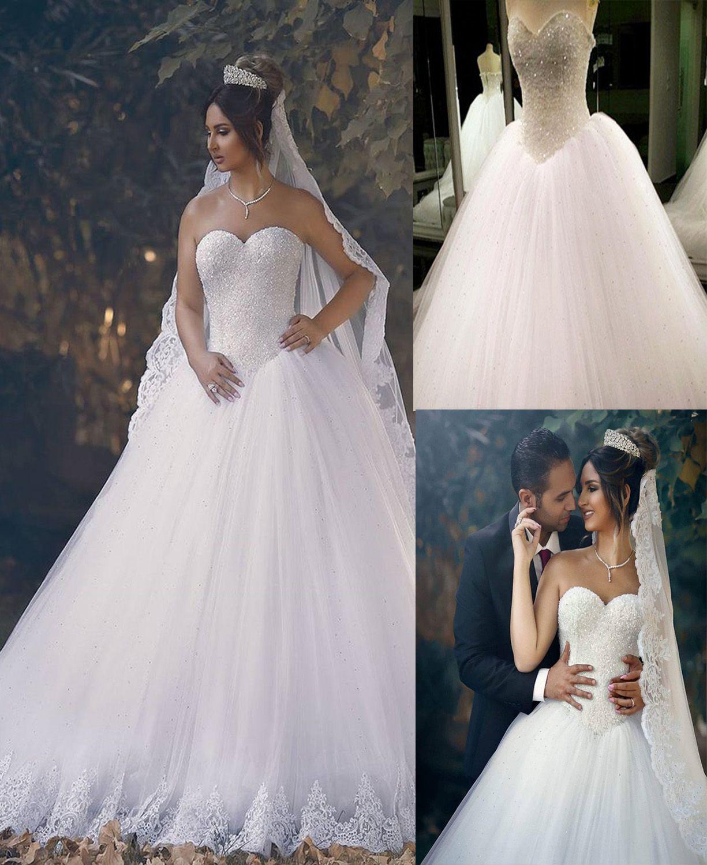 Bling Bling Sweetheart Drop Waist Wedding Princess Bridal Dresses ...
