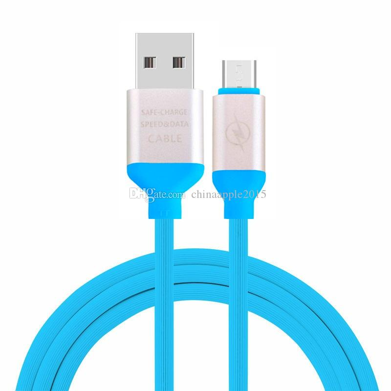 stretch Candy Tpe 2A Micro 5pin Type C usb data charger alloy cable 30CM 1m 3M Cable for samsung s4 s6 s7 s8 note 2 4 htc lg android phone