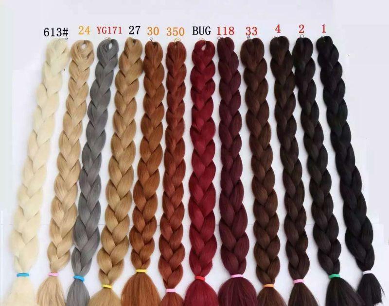 Jumbo Braids Kanekalon Jumbo Treccia Di Capelli 82 Pollice 165g Crochet Trecce Puro Colore Jumbo Sintetico Treccia Dei Capelli Nero