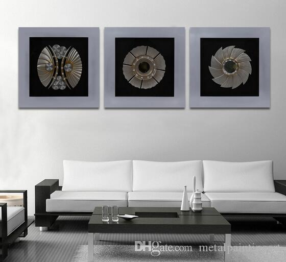 Hot Sale Wood Frame with Silver Painting Wall Art Plaque High Quality Gift for Dining Room Decoration