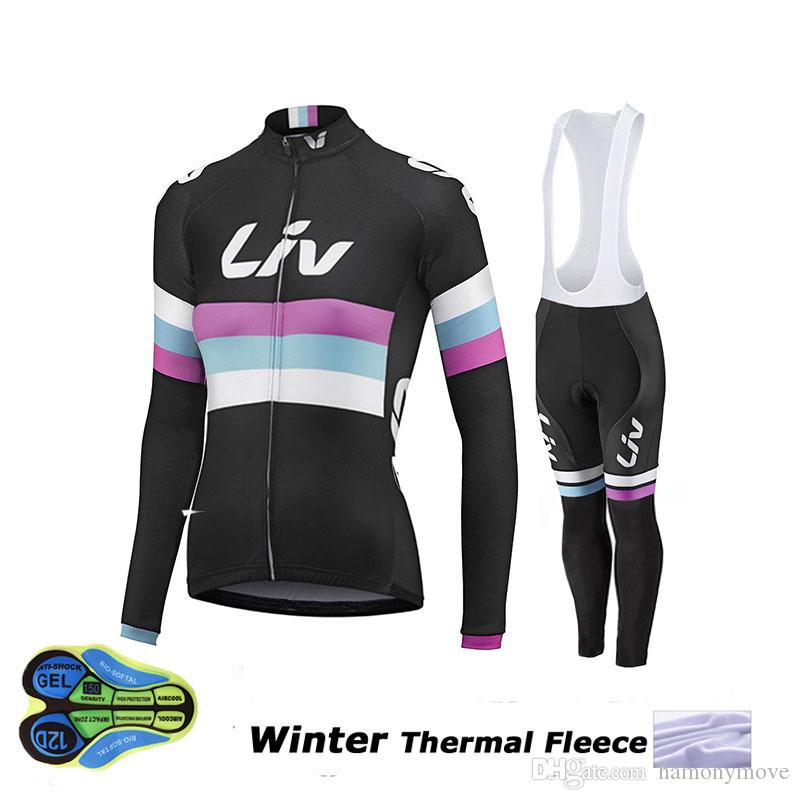 2a2257b1a 2018 2015 Liv Winter Thermal Fleece Women Cycling Jerseys Mtb Bike Clothes  Winter Cycling Clothing Bicycle Ropa Ciclismo Invierno Hombre From  Hamonymove