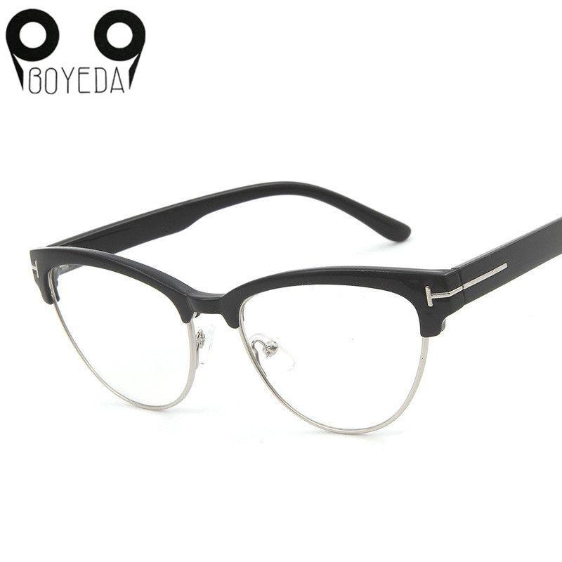 Wholesale- BOYEDA New Luxury Brand Cat Eye Glasses Men Retro Optical ...