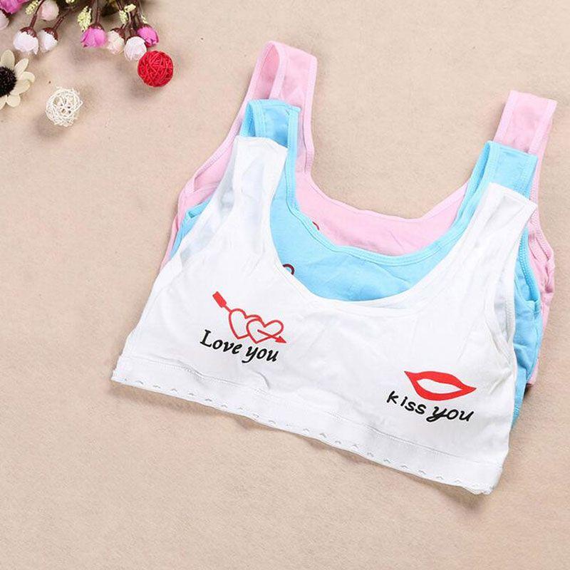 cad3a5221 Sweet Lip Kids Training Bra Size Small for Girls Cotton Sport Vest Girl  Training Underwear Brassierres Kid Child Puberty Bra for Teenagers