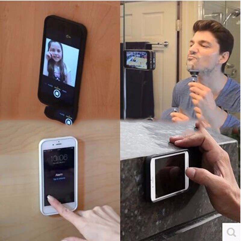 Para iPhone 7/7 Casos Além disso Caso Anti-gravidade para o iPhone 6 6s mais 5 5s se Mágico Anti gravidade Nano sucção Tampa adsorvida viaturas