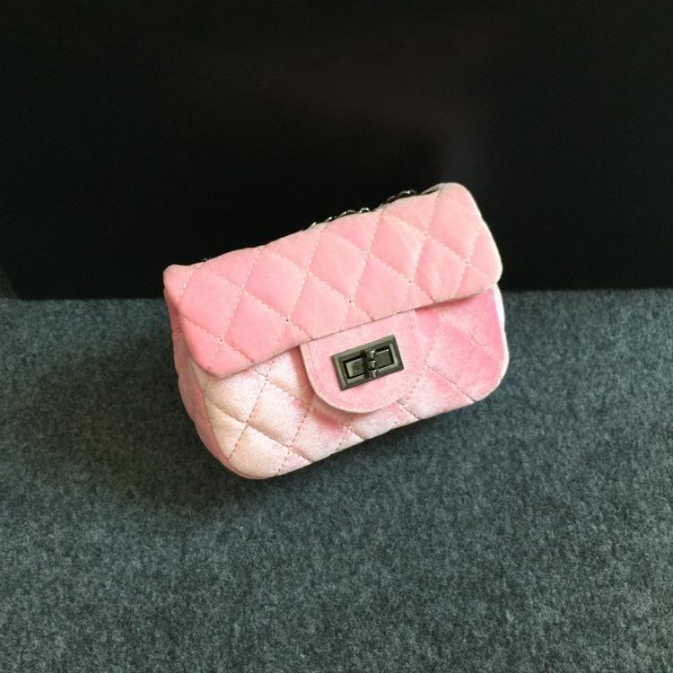Kids Girls Crossbody Bag Baby Girls Chain Messenger Bags Infant Girls Striped Mini Suede Pu Shoulder Bag 2018 Children Bags Accessories D208