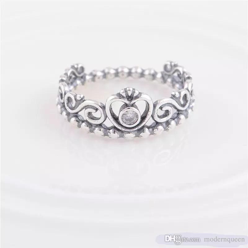 anello corona argento pandora