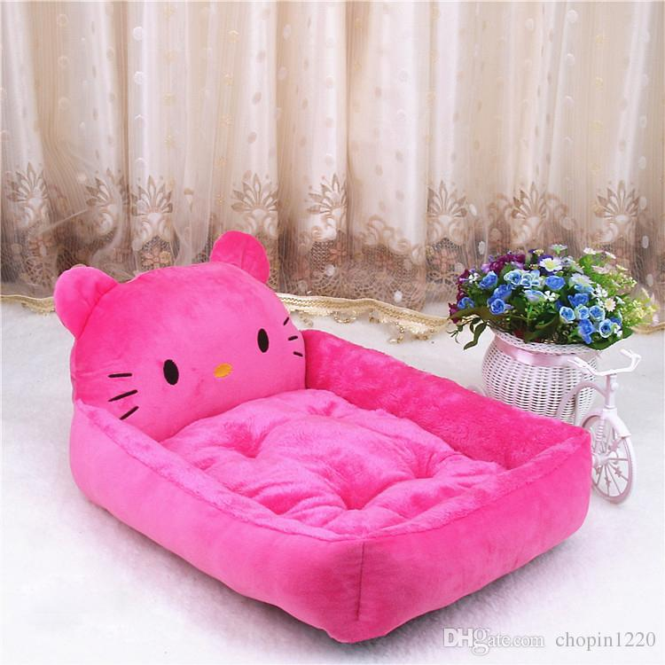 2018 Cute Animal Hello Kitty Cartoon Large Dog Beds Mats Teddy Pet Dogs Sofa Pet Cat Bed For Dogs House Big Blanket Cushion Puppy Supplies S Xl From