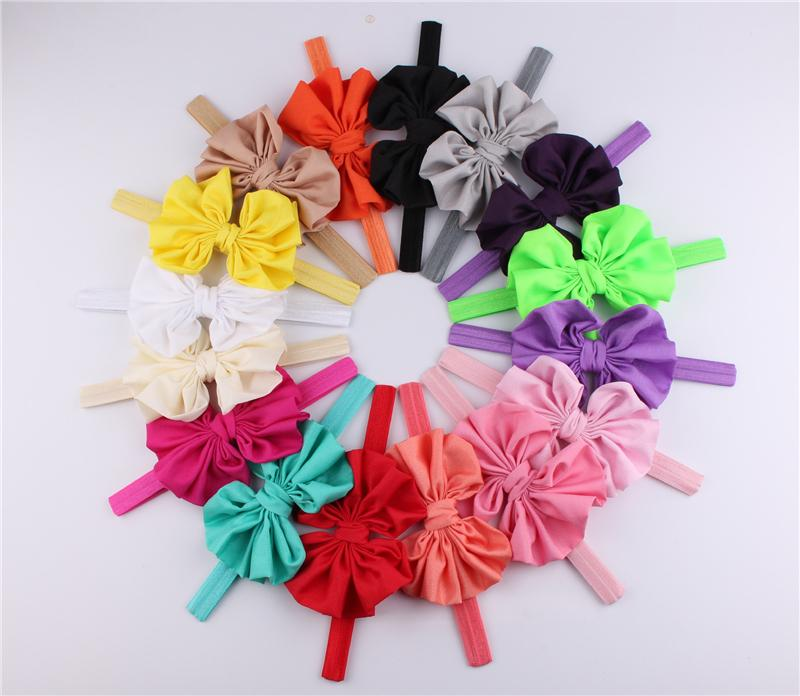 Baby Girls Headband Chiffon Big Bow Elastic Hairbands Headwear Hair Accessories Infant Bowknot Flower Headbands KHA182