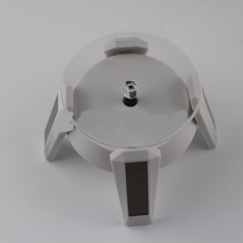 Solar Automatic Jewelry Rotating Stand Ring Bracelet Jewelry Display Holder Turntable Rotary Plate