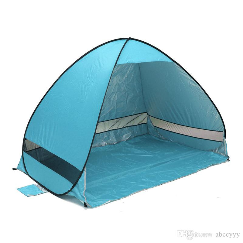 Quick Automatic Opening Beach Tent Sun Shelter Uv Protective Tent Shade Lightweight Pop Up Open For Outdoor C&ing Fishing Shelter Puppies Dog Shelters ...  sc 1 st  DHgate.com & Quick Automatic Opening Beach Tent Sun Shelter Uv Protective Tent ...