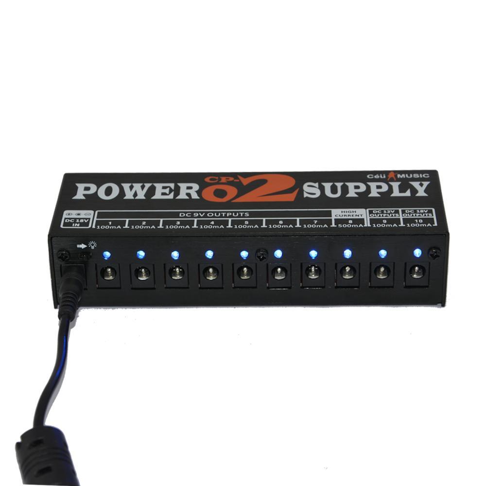 Güç Kaynağı 2 Gitar pedalı 10 İzole Çıkışlı Cihaz 3 Güç Seçenekleri