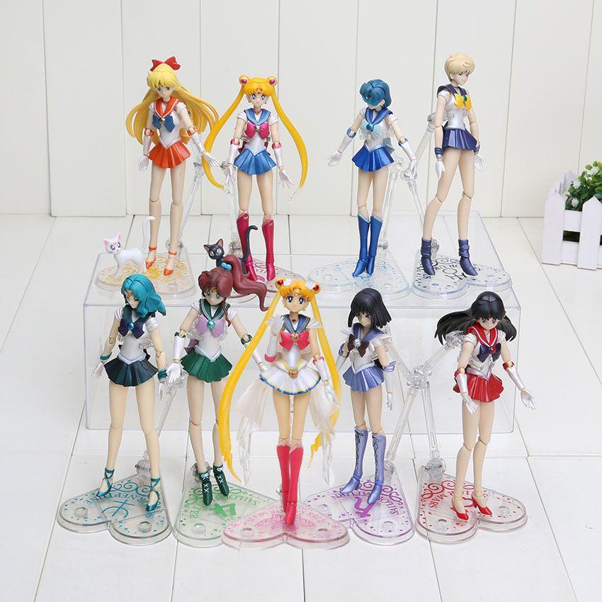 Nueva llegada 15cm Anime Sailor Moon PVC figura de acción de juguete 9styles puede elegir