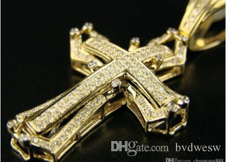 Wholesale 14k mens yellow gold pave diamond cross pendant 10 ct wholesale 14k mens yellow gold pave diamond cross pendant 10 ct amber pendant necklace unique jewelry from bvdwesw 5327 dhgate aloadofball Image collections