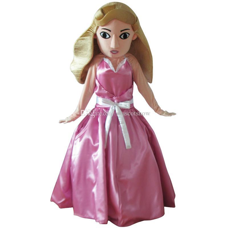 Compre Traje De Mascota De La Muñeca De Barbie Del Traje Adulto ...