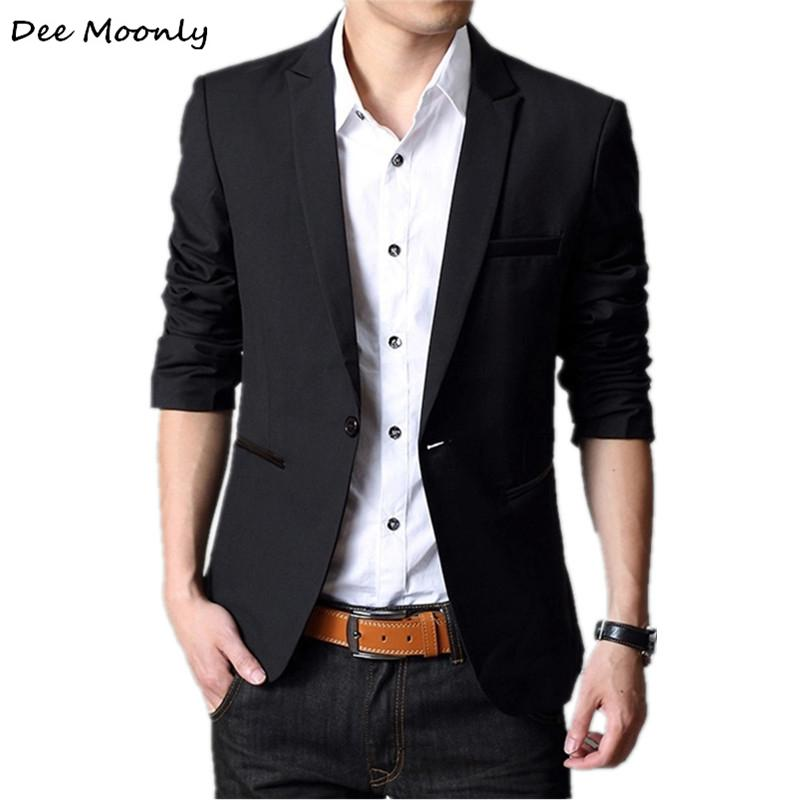 f5534b4f47c 2019 Wholesale DEE MOONLY 2017 Men Fashion Plus Size Business Slim Fit  Jacket Suits Masculine Blazer Coat Button Suit Men Formal Suit Jacket From  Baicao