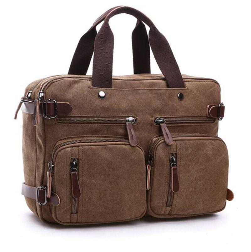 Hot 2017 Casual Travel bags Business Large Capacity Men Briefcase Portable Shoulder Handbags Multi-pocket Backpack Canvas travel bag