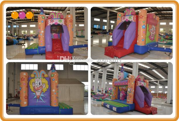 AOQI china whole sale fun clown combos inflatable fun cartoon city toys bouncer inflatable made in china