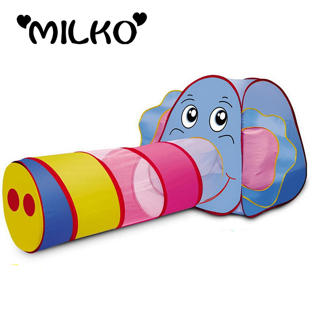 kids elephant play tents pipeline crawling huge tunnel toy house
