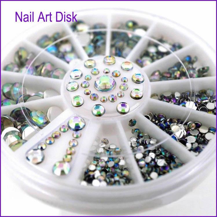 31faadd19b 5 style black mermaid chameleon Nail Art Tips Crystal Glitter Rhinestones  3D Nail Art Decoration Nail Beauty Stones manicure new accessory