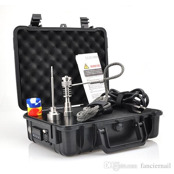 Titanium Pelic E Electric E Dab Nail Vapor Wax Dry Herb Electronic Temperature Controller Box fit Rig glass Bongs