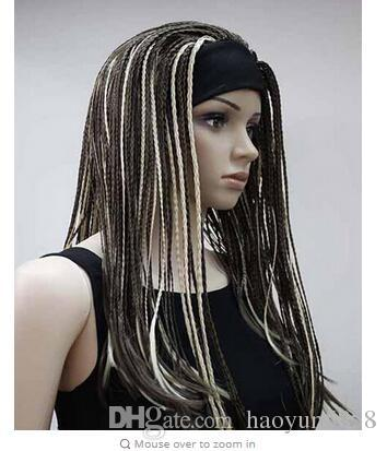 Halloween Pure Manual Braids Long Hair In Pigtails Prom Dress Up