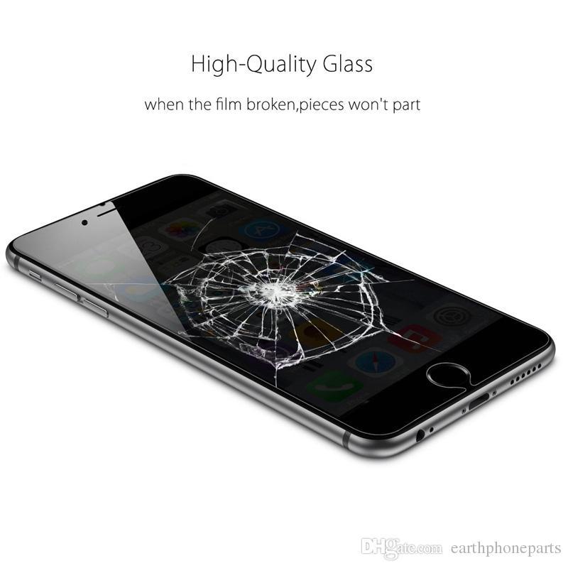9 h de privacidade anti-espião protetor de tela de vidro temperado para iphone 5 5s 5c se 6 6 s 7 plus x película protetora anti-shatter