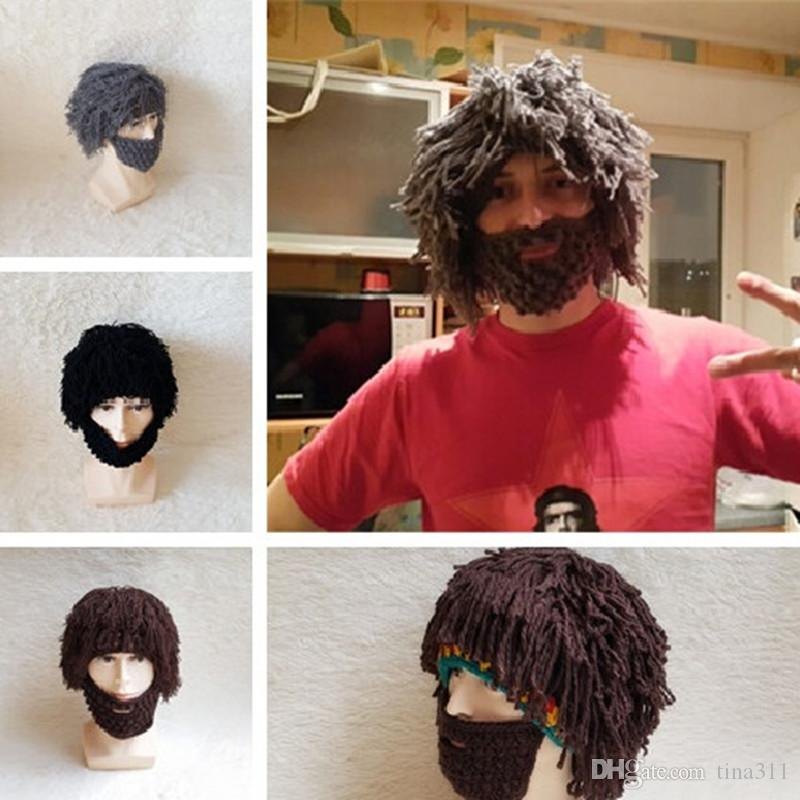 Winter Knit Warm Handmade Wig Beard Hats Hobo Caveman Halloween Caps Gift  Funny Party Mask Beanies CC513 Baby Beanies Beanie Hats For Women From  Tina311 0fa7c4d3b13d
