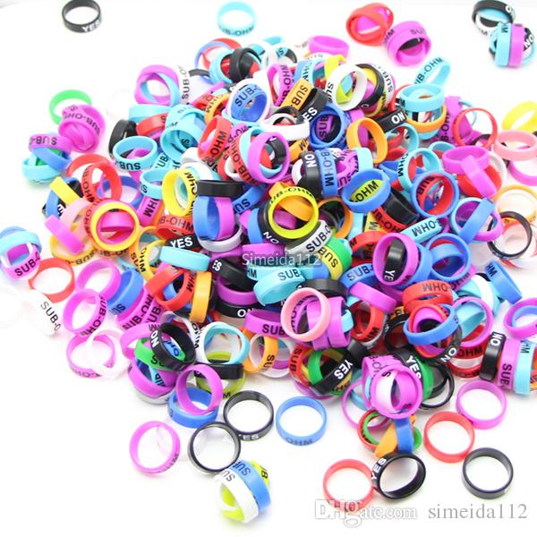 Colorful Vape Band 22*7mm Silicone Rings electronic cigarette ecig Rubber for RDA RTA Atomizer Mods vaporizer tank DHL