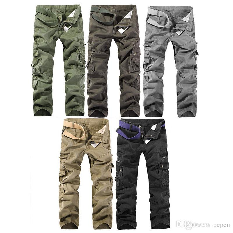 c2f6b3c5c8a 2019 Brand Clothing New 2017 Top Fashion Multi Pocket Solid Mens Cargo Pants  High Quality Men Trousers Size 28 42 From Pepen