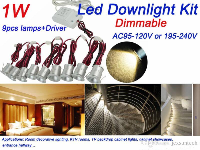 2018 recessed mini led spotlight downlight light 1w with driver kit