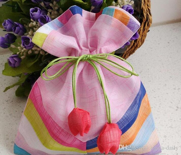 FREESHIP 20 STKS 16 * 20 cm 20 * 25 cm 24 * 35cm Handgemaakte Hoge Kwaliteit Joint Splicing Doek Tas Sieraden Tassen Candy Kralen Bruiloft Party Xmas Gift Bag