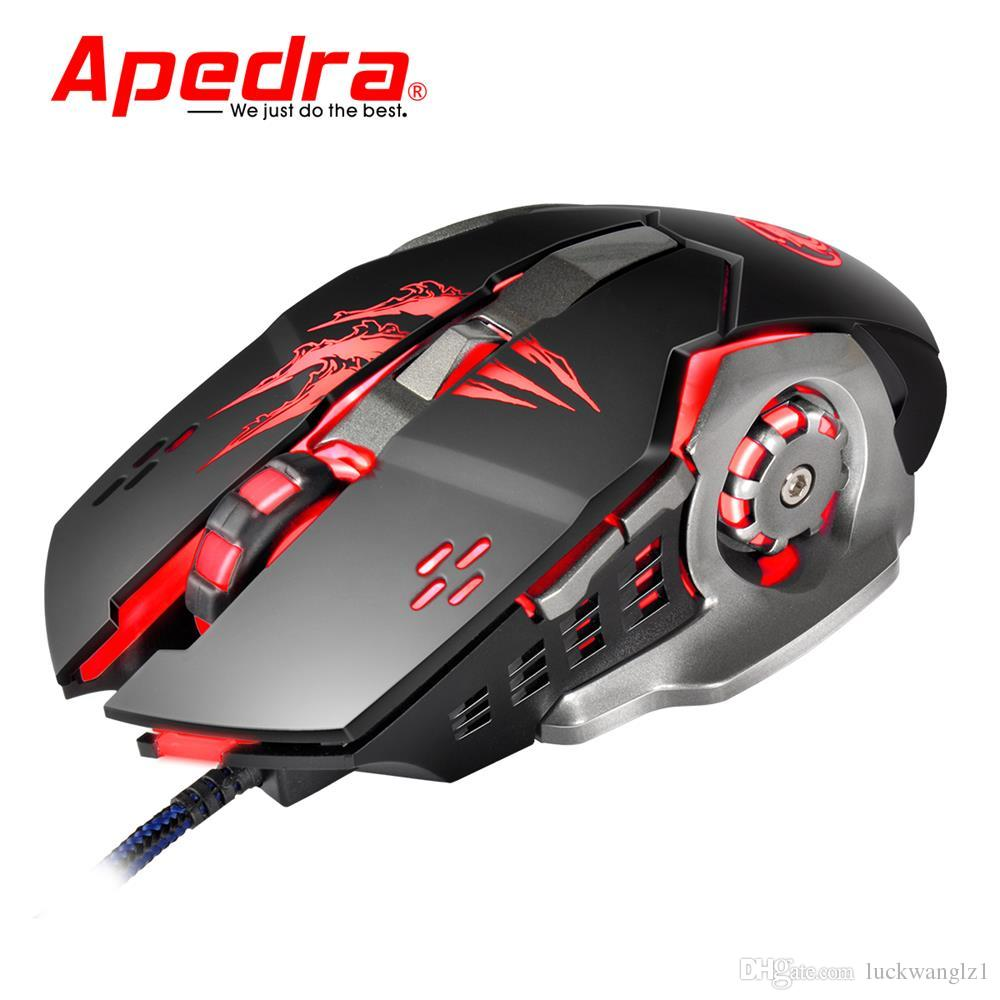 2018 Apedra A8 Wired Gaming Mouse 3200dpi Usb Optical Mouse 6 Button ...