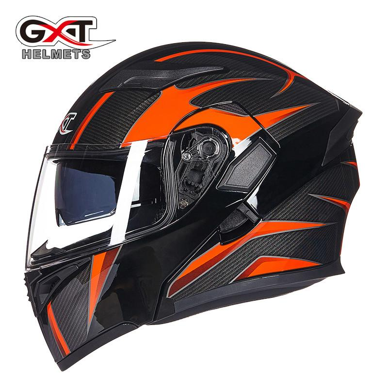 Motorcycle Helmets For Sale >> Hot Sale Gxt 902 Flip Up Motorcycle Helmet Modular Moto Helmet With Inner Sun Visor Safety Double Lens Racing Full Face Helmets