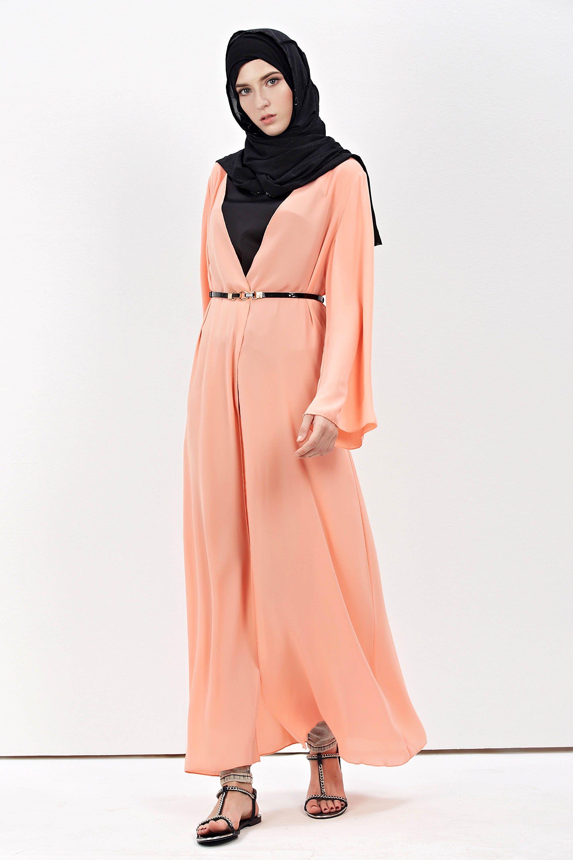 New Design Muslim Women Chiffon Long Sleeve Maxi Cardigan Dress ... 9cb046e6b