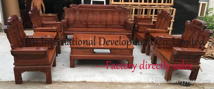2017 Home Wood Sofas Living Room Sofa Sets Carving Wood Furniture  Seat+Table+Couch 100% African Rosewood Fine Tenon Structure From  Jyfurniture, ... Part 61