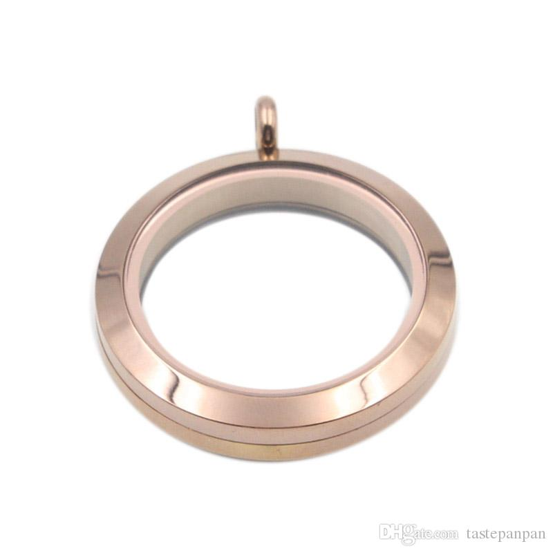 Panpan ювелирные изделия доказательство воды высокое качество 30 мм из нержавеющей стали 316L твист медальоны плавающие медальон с закаленным стеклом