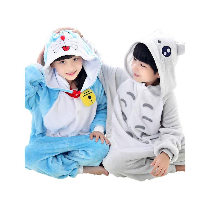 d73f3f13d Cute Kids One Piece Pajamas Cute Doraemon Cartoon Robe Sleepwear For ...