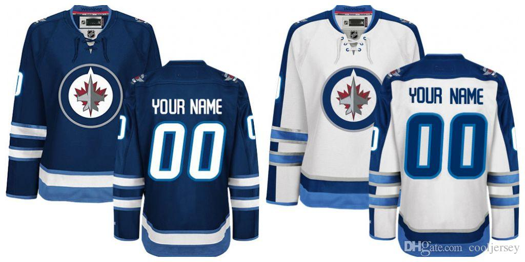 8fea4d49505 2019 Customized Men S Winnipeg Jets Jerseys Authentic Personalized Cheap  Hockey Jerseys Any Number   Name Embroidery Logos Size S 3XL From  Cooljersey