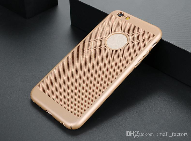 Phone Case Full Cover Matte Shell Mesh Net Grid Hollow Out Dot Back Cover for iphone xs max xr iPhoneX 8plus 6s plus
