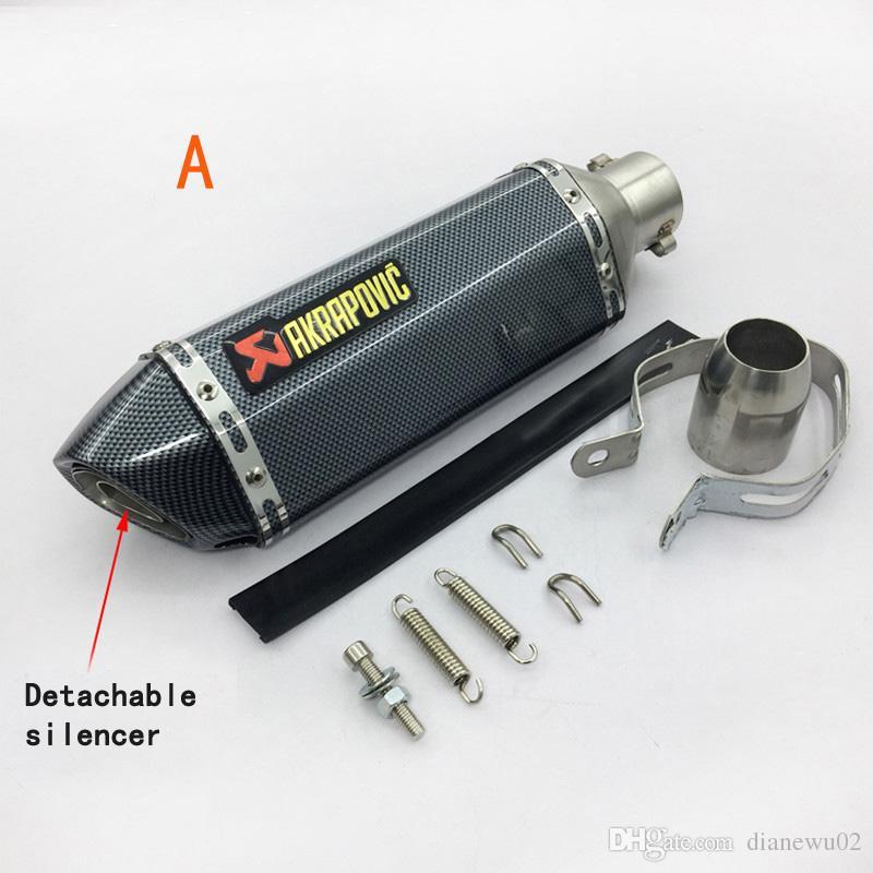 Modificado universal Akrapovic yoshimura silenciador de la motocicleta tubo de escape CB400 CB600 CBR600 CBR1000 YZF FZ400 Z750 YZF600