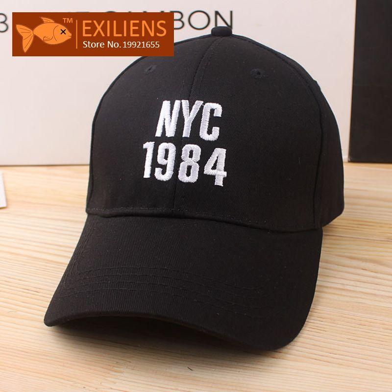 28384e31521 EXILIENS Fashion 2017 Brand Baseball Cap Cotton Top Quality 1984 Hot ...