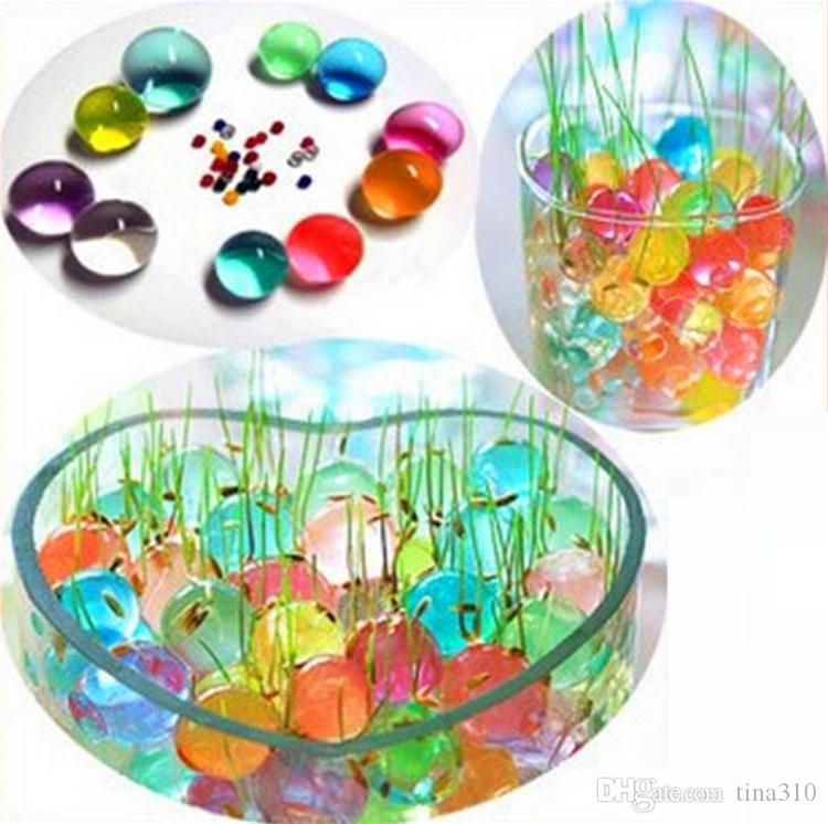 Newest beautiful Pearls Crystal Water beads ball Flower Plant Crystal Soil Gel Jelly Party Wedding Décor magic Jelly Water beads GC65