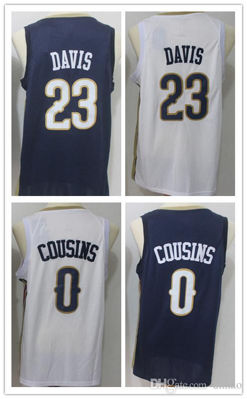 04f829d78 2018 New Top Quality 0  DeMarcus CousinsFor Mens Home Away Jersey WHITE  Blue Anthony Davis Basketball Jerseys Online with  21.85 Piece on Dhhao s  Store ...